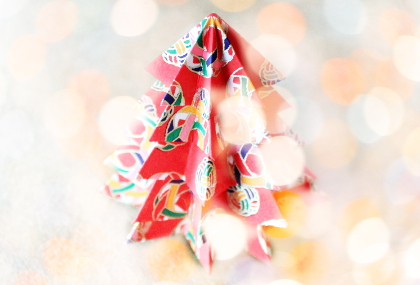 Christbaum aus Japanpapier Washi